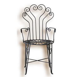 Letto in ferro fatto a mano sedie tavolini e luci in for Sedie da esterno in ferro battuto